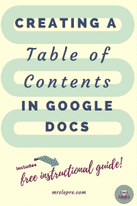 Creating a Table of Contents in Google Docs | Table of Contents | How to use Google Docs | Google Docs | Educational Technology