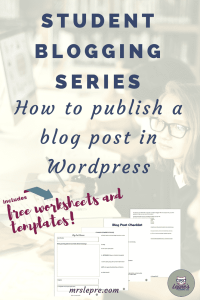 student blogging | blogging | wordpress | how to blog with students | why blog with students | lessons plans | blogging lessons plans
