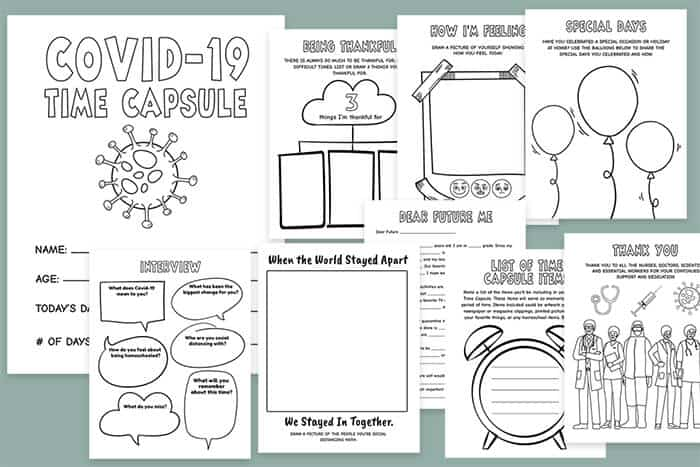 This is a photo of Time Capsule Printable Worksheets intended for pdf