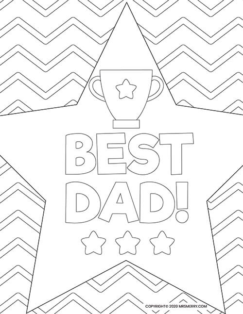 6 Dad Coloring Pages - Free Kids Printables - Mrs. Merry