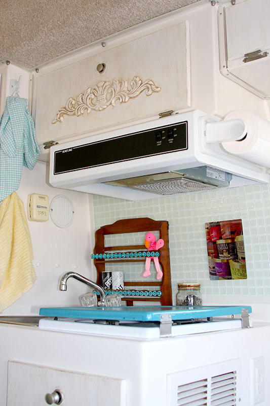 Kitchen Makeover in a Casita Travel Trailer