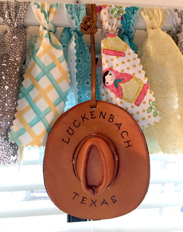 Luckenbach Hat Ornament in Mrs. Padilly's Casita Travel Trailer