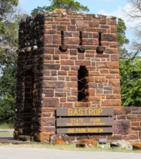 Entrance Sign to Bastrop State Park Texas