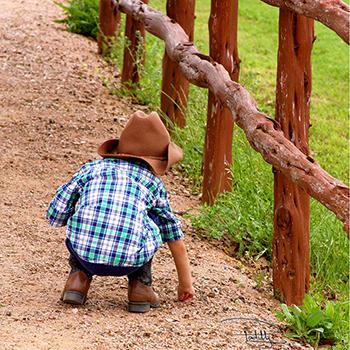 Little Cowboy in Fredericksburg, Texas