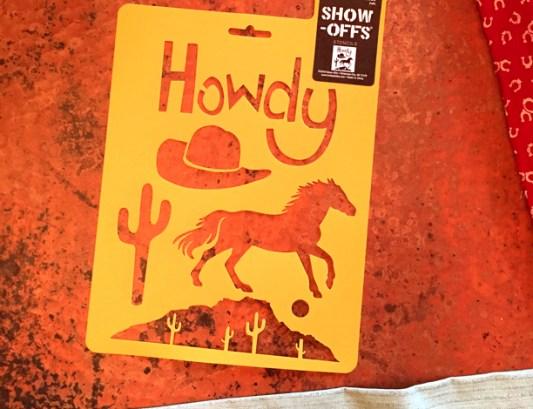 Western Howdy Stencil