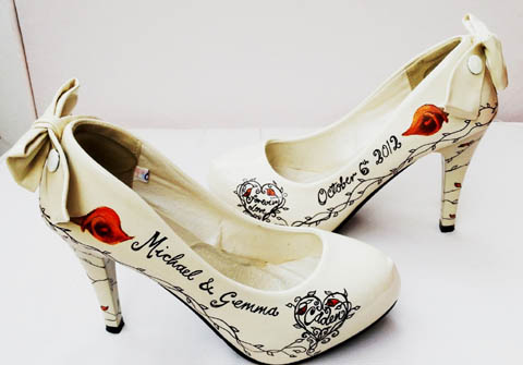 7cfa076ec5b6 Shoe Lust - Hand Painted Wedding Shoes by Beautiful Moment