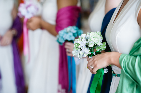 key reflections photography, paper bouquets by ribbon and tulle, colourful pashminas