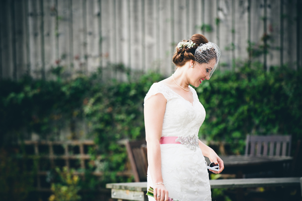 bride in verity dress, key reflections photography, birdcage veil