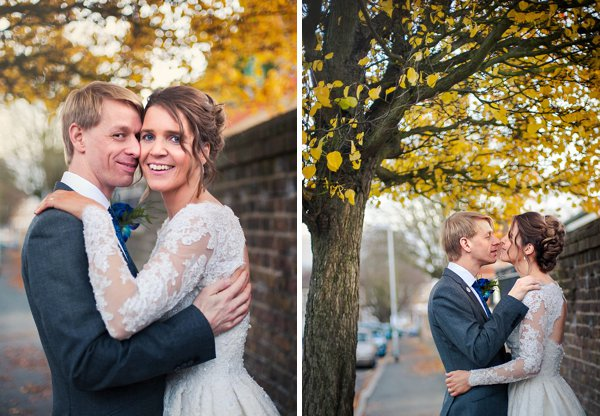 winter wedding, church wedding, julie anne images, anglo dutch wedding , church hall reception, dutch decor, autumnal wedding portraits, autumnal bride and groom, short wedding dress, 50's bridal gown