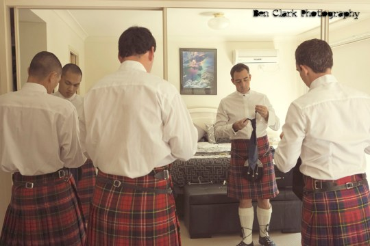 groom and groomsmen getting ready, ben clark photography
