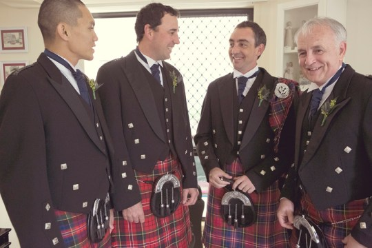 kilted groom and groomsmen, ben clark photography
