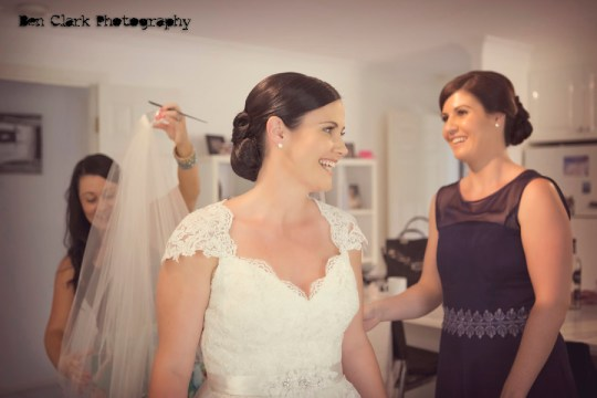 bride getting ready, bridesmaids, ben clark photography