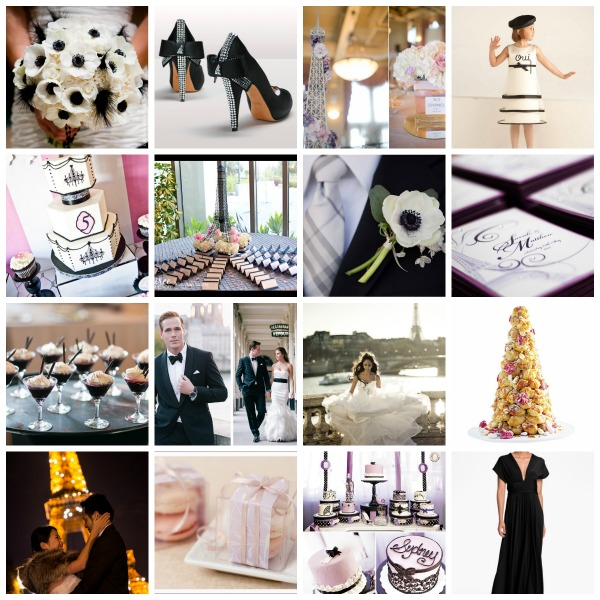 paris themed wedding, paris themed wedding moodboard, paris themed event, plans and presents, creative ideas
