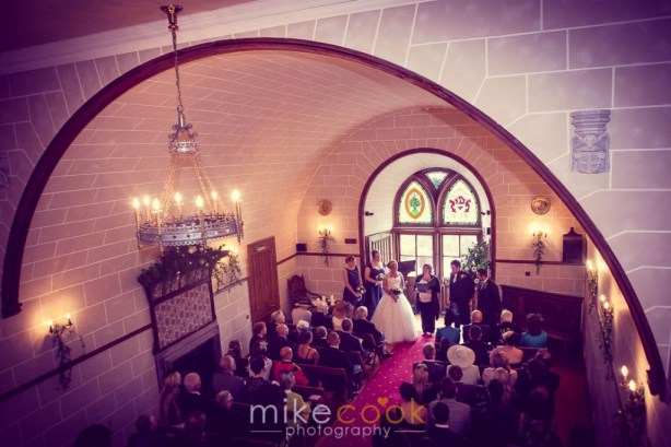 dalhousie castle chapel, wedding ceremony, mike cook photography