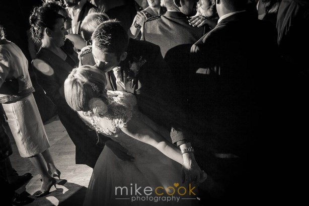 bride and groom dancing, dalhousie castle, wedding evening wedding reception, mike cook photography