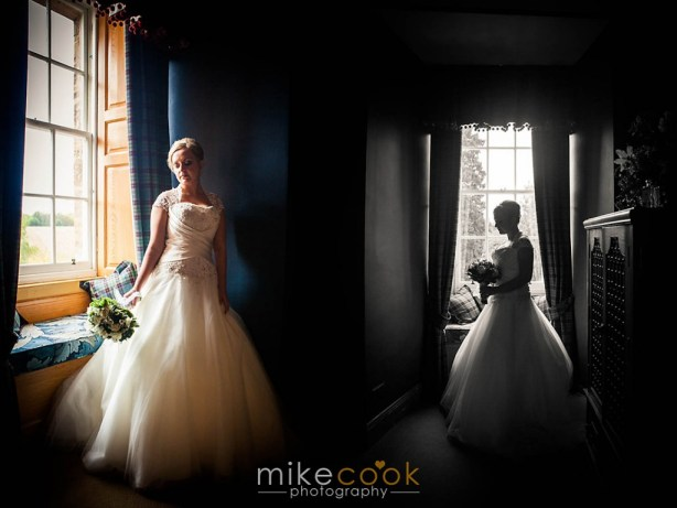 bridal portraits, dalhousie castle, mike cook photography