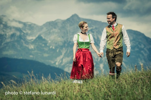 2 people 1 life, austrian national dress, up in the mountains, stefano lunardi photo
