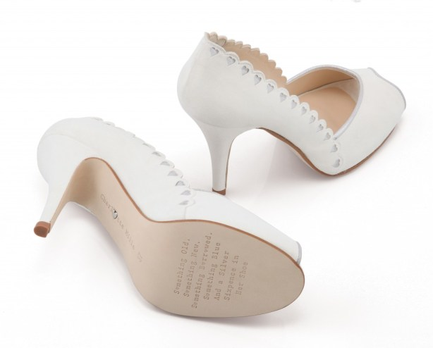 Love Hearts, Designer Bridal Footwear, Charlotte Mills -  alice shoe