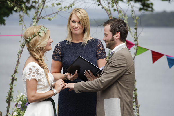 outdoor wedding, loch lomond, melanie leckie humanist, silver photography