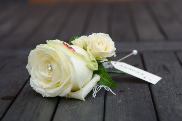 Pengelly-Photography, cream rose buttonhole, traditional vintage flower company, clare luke