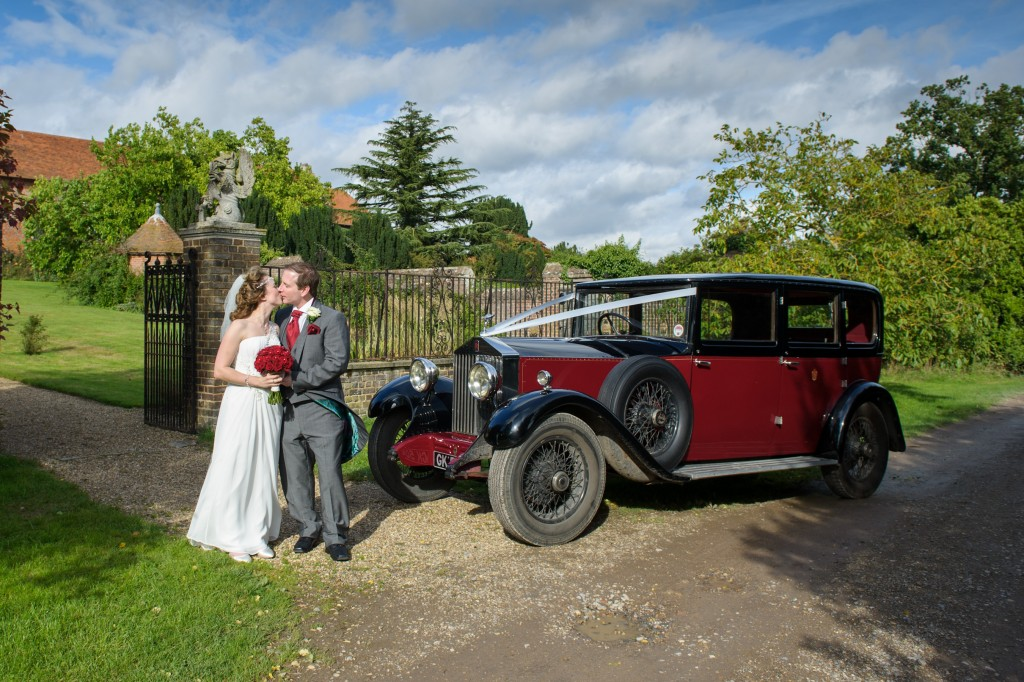 Layer-Marney-Tower, Pengelly-Photography, bride and groom, wedding car