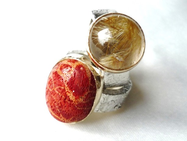 gemstone rings, Handmade and unique jewellery, Precious Metal jewellery,  gemstone jewellery , Susanna Hanl