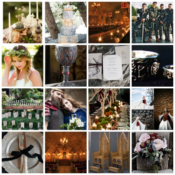 MrsPandP's Sunday Morning Cuppa, Wedding Blog Catch Up, medieval wedding theme, medieval wedding ideas, medieval wedding moodboard, game of thrones styling