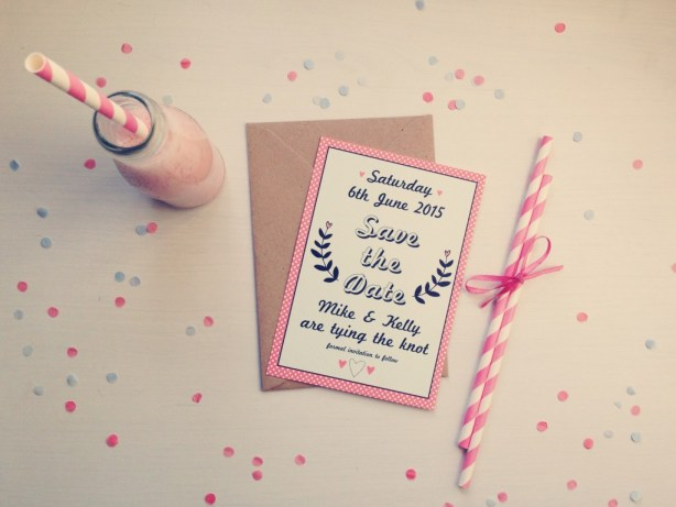 SAVE THE DATE - The Strawberry Shake Collection, Best Day Ever, Wedding Stationery