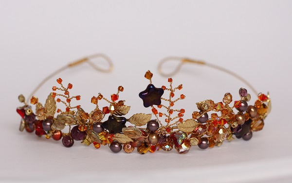 Samantha Walden ,  Autumn Leaves, Historically inspired headdresses, Historically inspired tiaras, vintage tiara
