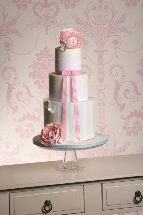 The Designer Cake Company, gateshead,  candy stripe cake