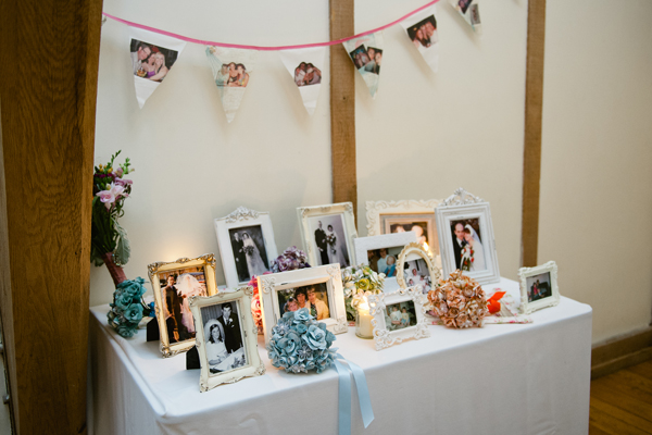 MrsPandPs Sunday Morning Cuppa, Wedding Blog Catch Up. Remembering Special people on our Wedding Day, image by sarah ropke, key reflections photography, photo table