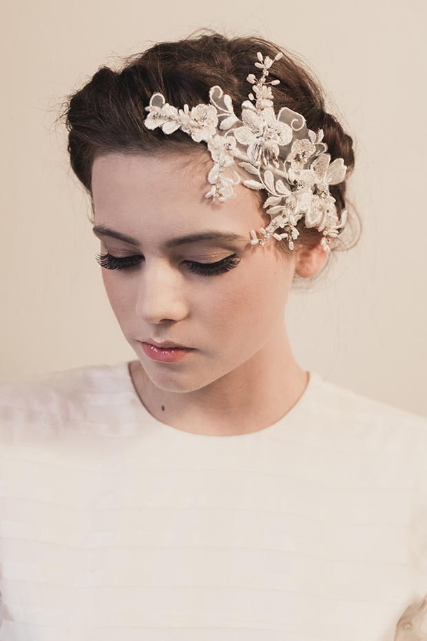 Klaire Van Eleton, Bridal adornments, bridal headbands, 2014 collection, hollybooth photography