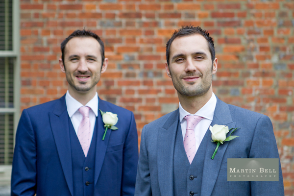 Winchester wedding photography, Martin Bell Photography, groom and best man