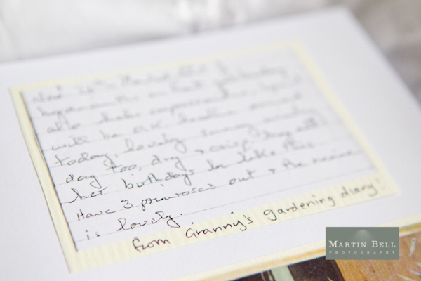 Winchester wedding photography, Martin Bell Photography, excerpts from grannys diary