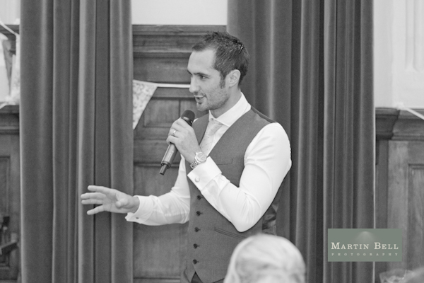 groom speech, bunting, Winchester wedding photography, Martin Bell Photography,