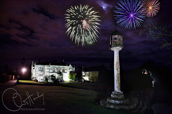 chris hanley photography, winter wedding , bride and groom, fireworks, brampton house, new years eve wedding