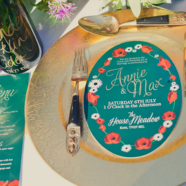 Annie & Max, wedding stationery, becky lord design