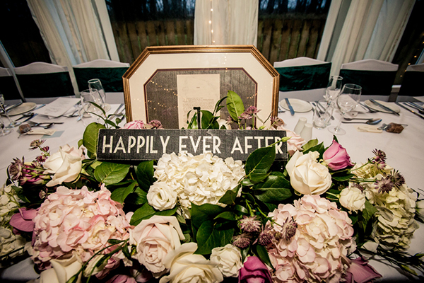top table arrangement, mood flowers, carnbooth house hotel, wilson mcsheffrey photo