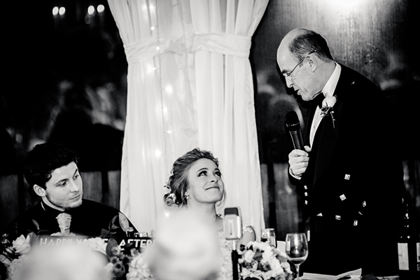 wedding speech, carnbooth house hotel, wilson mchsffrey photo