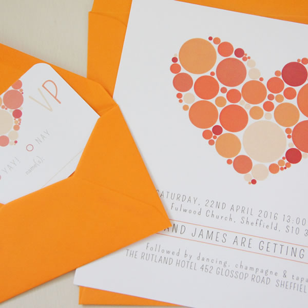 Pompa design, becky lord design, wedding stationery