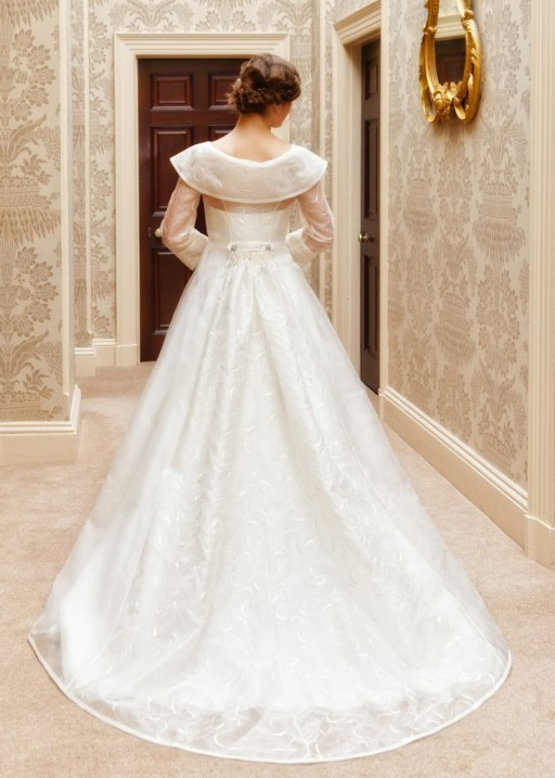 Portia  - Love & Romance Collection - Qiana Bridal (back close up)
