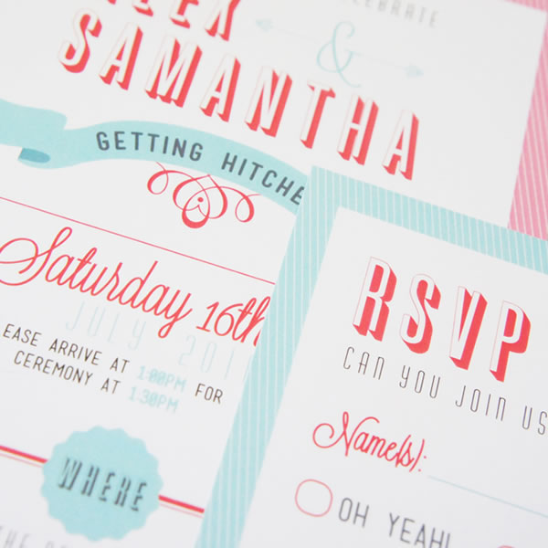 Tura design, becky lord design, wedding stationery