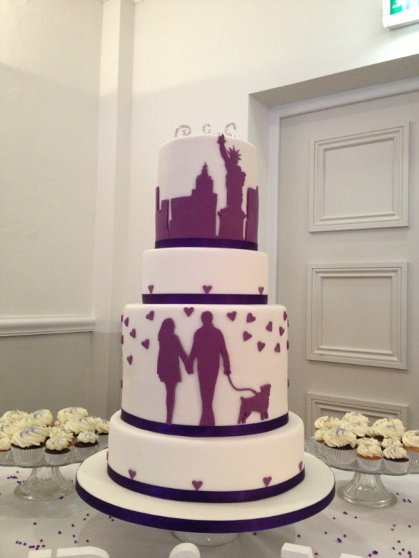 new york inspired cake, bespoke wedding cake, the vanilla pod bakery cheltenham