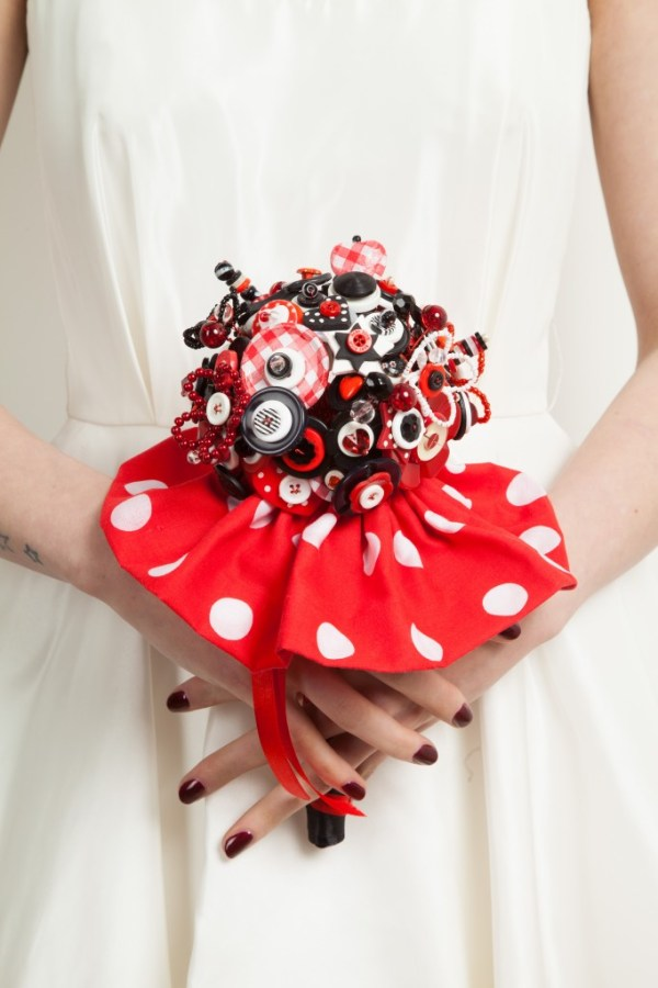bride as a button , Hand crafted alternative bouquets