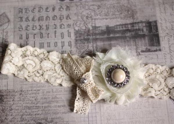 Love is a Poem, Handmade wedding garters, hair accessories
