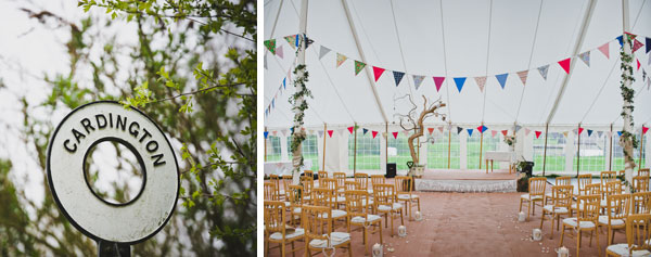 Cloud9 Wedding Photography, wedding ceremony set up, marquee, cardlington village hall