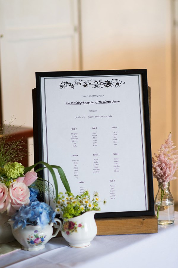 table plan, georgina harrison photo