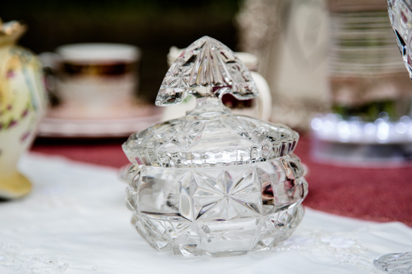 crystal jar,   Vintage Tea Party inspired Wedding Shoot,  Styling by 9ice Events, Photography by Elysium Photography
