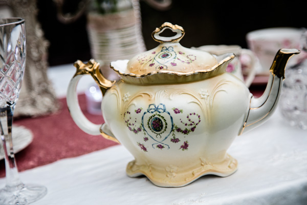china teapot,   Vintage Tea Party inspired Wedding Shoot, Styling by 9ice Events,  Photography by Elysium Photography
