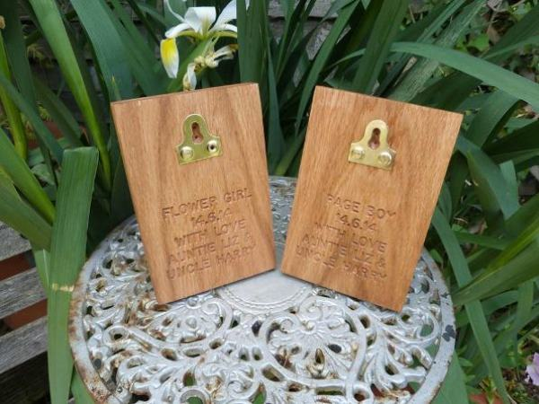 Personalisation on Hooks, engraved oak products, betty&dodge